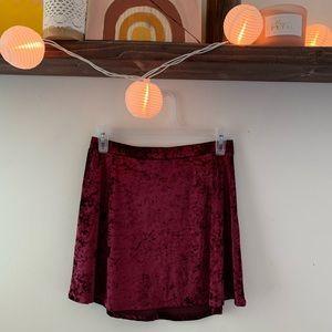 Express Red velvet maroon skirt!